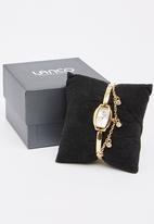 Lanco - Rectangle Watch with Chain Detail Gold