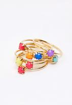FUNKY FISH - Multicolored Stones Layered Ring Multi-colour