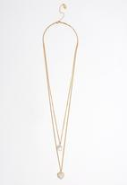 FUNKY FISH - Two Stone Pendants Layard Necklace Gold