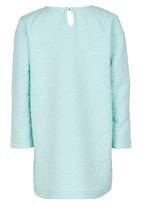 See-Saw - Textured Long Sleeve Dress Light Green