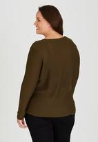 Brave Soul - V-Neck Jumper Khaki Green