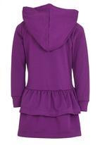 See-Saw - Hooded Fleece Dress Pale Purple