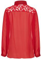 Rebel Republic - Front Tie Blouse Red