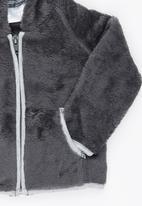 Luke & Lola - Fleece with Hood Dark Grey
