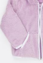 Luke & Lola - Fleece with Hood Pale Purple