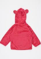 Luke & Lola - Fleece with Hood Dark Pink