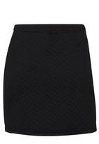 Rebel Republic - Quilted Skirt Black