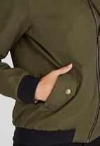 c(inch) - Bomber Jacket With Zip Detail Khaki Green