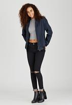c(inch) - Bomber Jacket With Zip Detail Navy