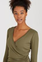Marique Yssel - Sophia Gathered Top Dark Green