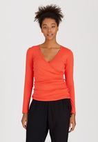 Marique Yssel - Sophia Gathered Top Orange