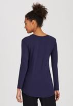 Marique Yssel - Leaf Combo Printed Top Navy