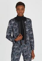 Paper Dolls - Peacock Feather Jacket Multi-colour