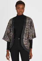 Paper Dolls - Animal Print Kimono Jacket Metallic