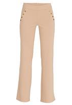 STYLE REPUBLIC - Wide Leg Sailor Pants Camel