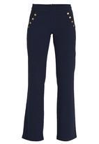 STYLE REPUBLIC - Wide Leg Sailor Pants Navy