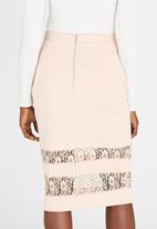 Girls on Film - Lace Insert Skirt Neutral