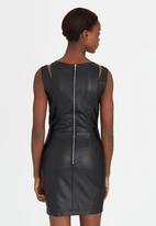 Girls on Film - PU Strap Dress Black