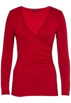 Marique Yssel - Sophia Gathered Top Dark Red