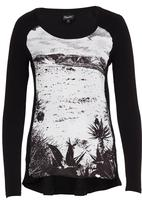 Marique Yssel - Karoo Combo Printed Top Black and White