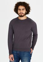 Rob Roy - Long Sleeve Crew Neck Dark Grey