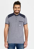 Brave Soul - Polo T-Shirt with Chest Pocket Navy
