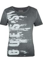 GUESS - Washed Guess Crew T-Shirt Dark Grey
