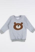 Luke & Lola - Applique Sweater Grey