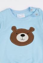 Luke & Lola - Applique Sweater Mid Blue