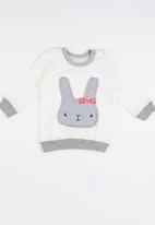 Luke & Lola - Applique Sweater Off White