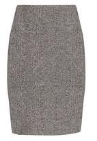 c(inch) - Ribbed Midi Skirt Grey Melange