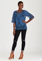 STYLE REPUBLIC - Combo Crochet Top Mid Blue