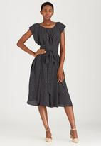 Leigh Schubert - Philosophy Trapeze Dress Black and White