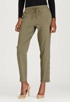 edit - Leisure Pant with Drawcord Khaki Green
