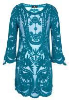 STYLE REPUBLIC - Hollow Crochet Tunic Mid Blue