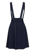 c(inch) - Dungaree Midi Skirt Navy