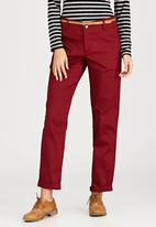 c(inch) - Belted Pant Dark Red