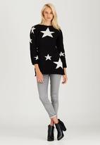 CRAVE - Star Knit Top Black