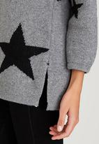 CRAVE - Star Knit Top Grey