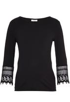 edit Maternity - Lace Sleeve T-shirt Black