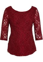 Me-a-mama - Piah Lace Top Dark Red