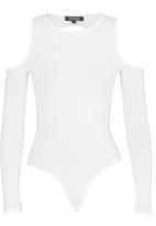 Revenge - Cold Shoulder Bodysuit White