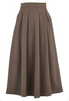 STYLE REPUBLIC - Longer Length Midi Skirt Khaki Green