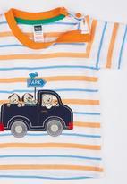 POP CANDY - Stripe Truck Tee Orange