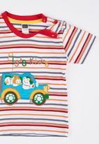 POP CANDY - Multi Colour Stripe Bus Tee Multi-colour