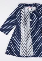 POP CANDY - Girls Long Sleeve Collared Dress Mid Blue