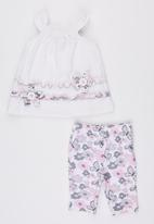 POP CANDY - 2 Piece Sleeveless Top And Shorts White