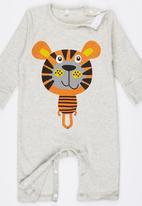 POP CANDY - Tiger Jumper Beanie Set Neutral