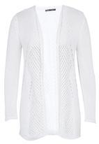 CRAVE - Crochet Knit Cardi White
