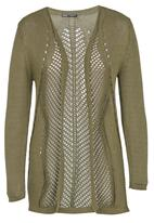 CRAVE - Crochet Knit Cardi Khaki Green
